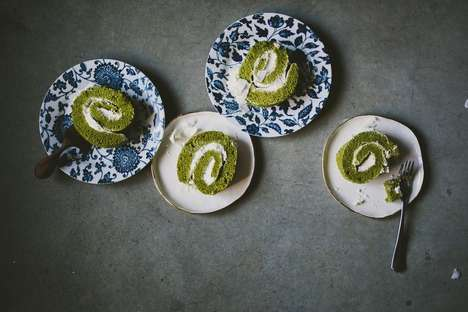 Matcha Swiss Roll Desserts - This Matcha Swiss Roll Infuses the Light Treat with Ground Green Tea
