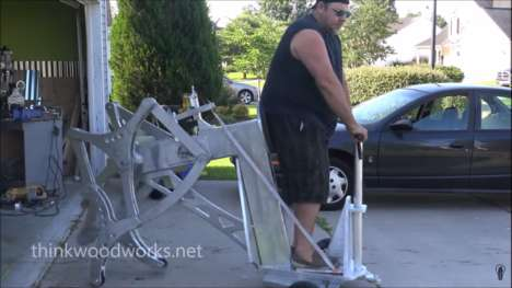 Drill-Powered Walking Aids - This Walking Machine Looks like a Mechanical Mystical Centaur