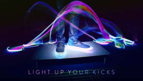 Stick-On Shoe Lights - These Reactive and Customizable LED Strips Can Be Added to Any Shoes