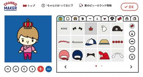 Custom Cartoon Creators - Sanrio's 'Chanrio Maker' is a Tool for Digital Character Creation