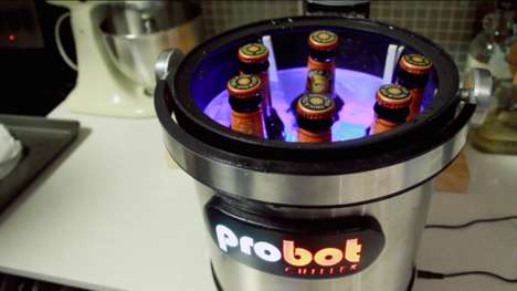 Temperature-Regulating Beer Coolers - This Instant Beer Chiller Can Hold Up to Six Drinks at a Time