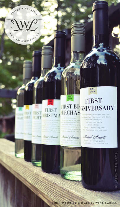 Milestone Wine Labels - These Decorative Wine Sets Feature Customized Labels to Any Occasion