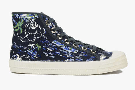 Element-Inspired Sneakers - These Novesta Shoes Incorporate Earth, Fire and Water on Fabric