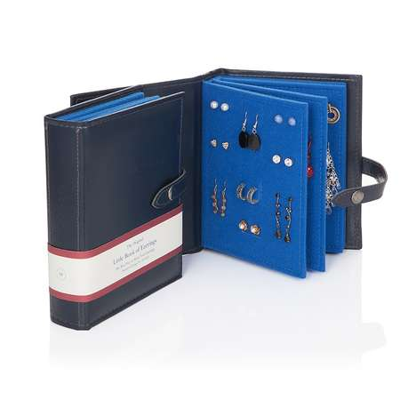 Portable Earring Organizers - The Little Book of Earrings Keeps Jewelry Safe in a Book-Like Case
