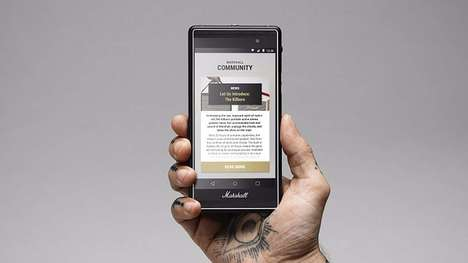 Amplifier-Inspired Smartphones - The Marshall London is Targeted Towards Musicians and Audiophiles