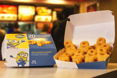 Cartoon Alien Fries - The New Minion Character Fries are Exclusively Offered at McDonald's Brazil