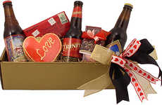 Romantic Beer Baskets - The 'Beer Lovers Delights' Box Pairs Microbrews with Decadent Chocolate