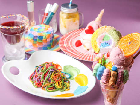 Quirky Rainbow Cafes - Japan's 'Kawaii Monster Cafe' Serves Colorfully Chromatic Treats