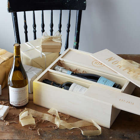 Customizable Wine Packages - This Anniversary Wine Box Makes a Great Gift for the Happy Couple