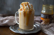 Boozy Breakfast Cocktails - These Salted Caramel Ice Coffee is a Spiked Morning Pick-Me-Up
