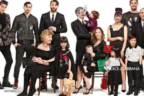 Familial Fashion Ads - Dolce and Gabbana Paints a Picture of a Stylish Fashion Family