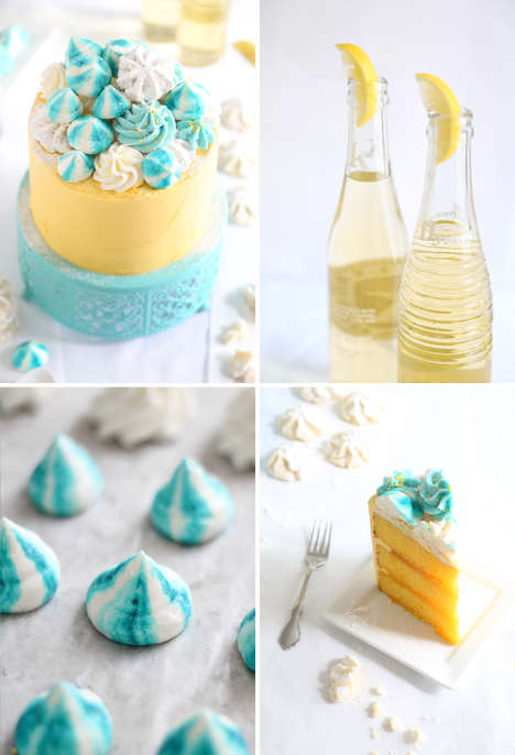 Seashell-Adorned Cakes - This Zesty Layered Lemon Cake is Topped with Edible Buttercream Seashells