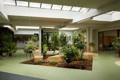 41 Eco-Friendly Office Solutions - From Tree Top Studio Structures to Garden-Embedded Interiors