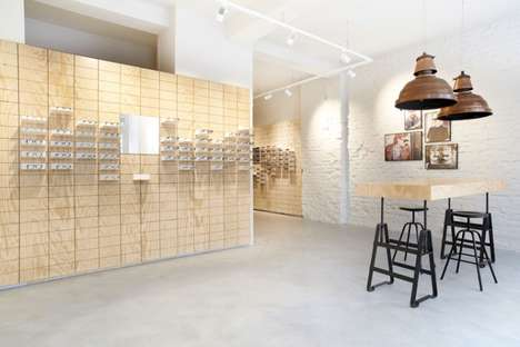 Bare Eyewear Shops - This Minimalist Eyewear Store Uses Bricks to Display Glasses