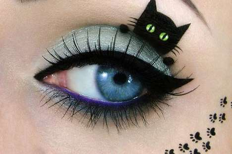 Feline-Inspired Eye Paintings - Tal Peleg's Cat-Inspired Makeup Art Takes the Cat Eye to a New Level