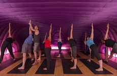 Inflatable Yoga Studios - Hot Pod Yoga Supplies a Heated Pop-Up Yoga Station