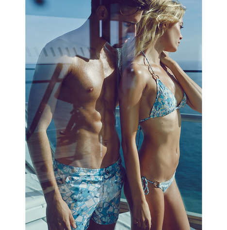 Barcelona-Inspired Swimwear - The William Tempest Swimsuit Line has One Bikini & One Pair of Trunks