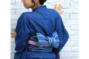 Tsukada Nojo and American Demin Retailer Lee Teamed Up to Create Kimono Fashion