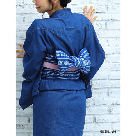 Denim Kimonos - Tsukada Nojo and American Demin Retailer Lee Teamed Up to Create Kimono Fashion