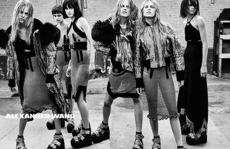 Angst-Ridden Advertisements - The Latest Alexander Wang Steven Klein Campaign is Full of Attitude