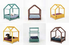 Framework Dog Beds - These Cozy Den-Like Dog Beds Look Like Unfinished House Frames