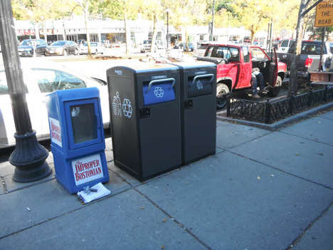 Wi-Fi Trash Bins - New York City's BigBelly Trash Cans Take in Waste and Give Out Wi-Fi