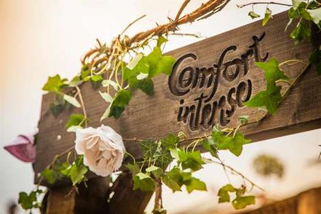 Enchanting Garden Pop-Ups - The Comfort Intense Garden Showcases the Brand's New Fragrances