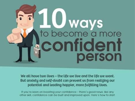 Self-Esteem-Boosting Guides - This Infographic Offers Tips on How to Be a Confident Person Everyday