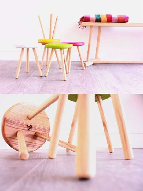 Whackable Flat-Packed Furniture - These DIY Furniture Pieces Can Be Assembled with a Wooden Mallet