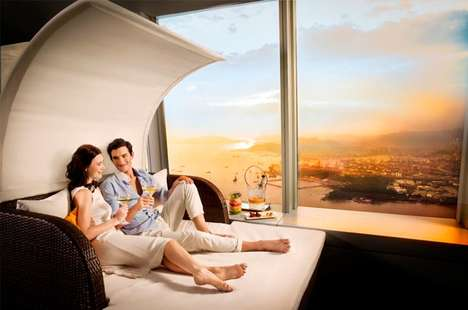 Sky-High Lounges - The Sunset Lounge is Located on the Highest Floor of the World's Tallest Hotel