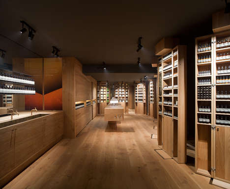 Theatrical Skincare Boutiques - The New Aesop Berlin Boutique Was Designed by Snohetta