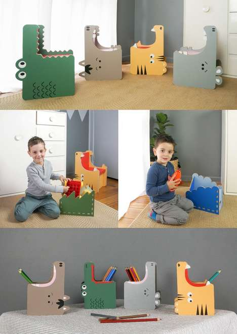 Paper-Made Kid's Furniture - These Animal-Mimicking Chairs Use Recycled Materials and Zero Toxins