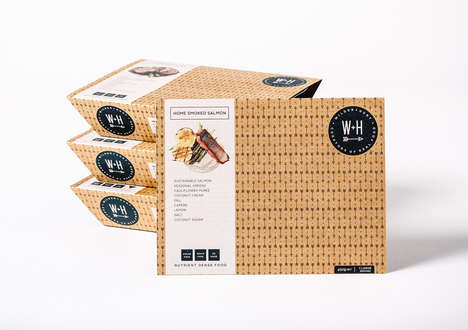 Farm-Inspired Meal Packaging - These Packages Combine Brown Paper, Light Pastels & a Viewing Window