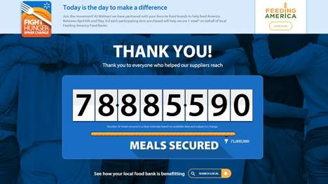Charitable Food Campaigns - The Latest Walmart Social Media Campaign Raises Funds for Food Banks