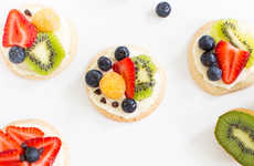 Fruity Cookie Pizzas - Sugar and Cloth's Mini Fruit Pizza Recipe Uses Shortbread Cookies as Crust
