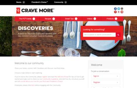 Foodie-Focused Social Networks - Loblaws' President's Choice Discoveries Platform Stuns Food Fans