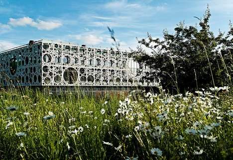 Ornamental Campus Facades - This Stunning Building is Part of the U of Southern Denmark Campus