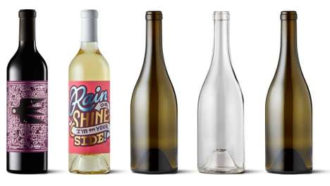 Blank Canvas Wine Bottles - The 'Bare Bottle' Project Brings Together Artists and Famous Winemakers