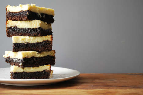 Hybrid Cheesecake Brownies - These Decadent Squares Combine the Two Popular Desserts Into One