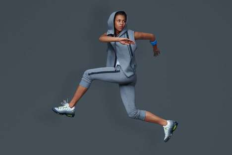 Movement-Encouraging Workout Wear - The Nike Women Fall Line is Modeled by Pro Athlete Morgan Lake