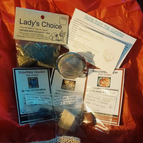 Spiritual Subscription Boxes - 'Awakening in a Box' Supplies Resources for Spiritual Healing