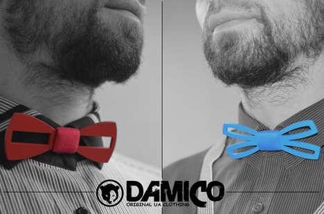 Aluminum Bow Ties - The Damico Bow Ties are Laser Cut and Handcrafted into Unique Shapes