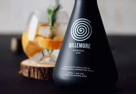 Ritualistic Gin Branding - The Packaging for Gillemore Gin is Inspired by Black Magic