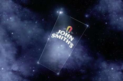 Branded Beer-Shaped Constellations - British Beer Brand John Smith's is Naming Stars After Its Fans