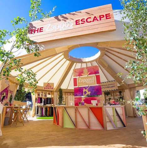 Rejuvenating Festival Stations - Zappos' 'Escape' Wanderlust Festival Booth Revives People & Phones