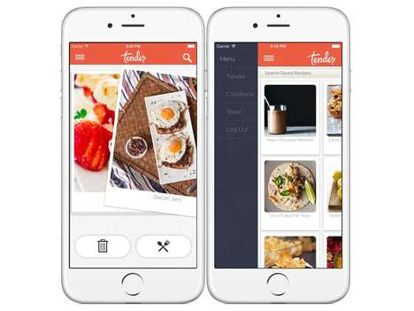 Culinary Pairing Apps - The Tender Meal App is Like Tinder But for Meal Preferences