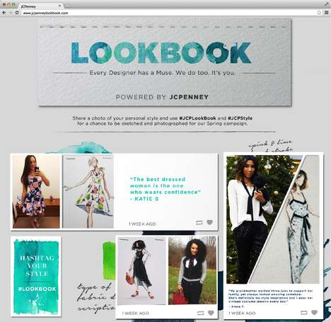 Style-Sharing Fashion Platforms - J.C. Penney's JCPLookbook Campaign Celebrates Self Expression