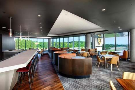 Luxury Car-Inspired Eateries - 'Restaurant 356' Allows Guests a View of the Porsche Driving Track