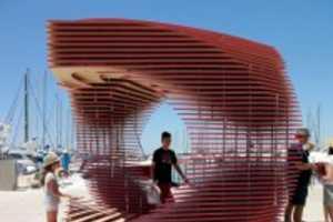 This Pavilion Titled PortHole Looks Like an Optical Illusion Portal