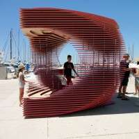 Vortex-Mimicking Pavilions - This Pavilion Titled PortHole Looks Like an Optical Illusion Portal